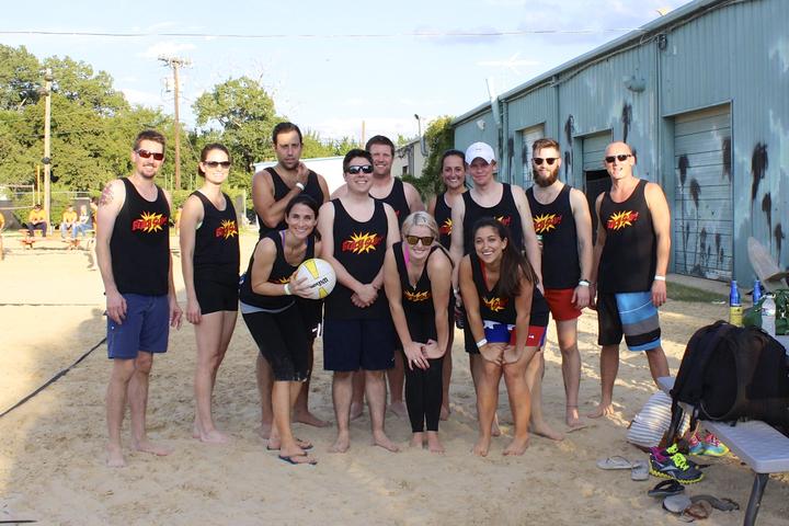 Tm Advertising Volleyball Team T-Shirt Photo