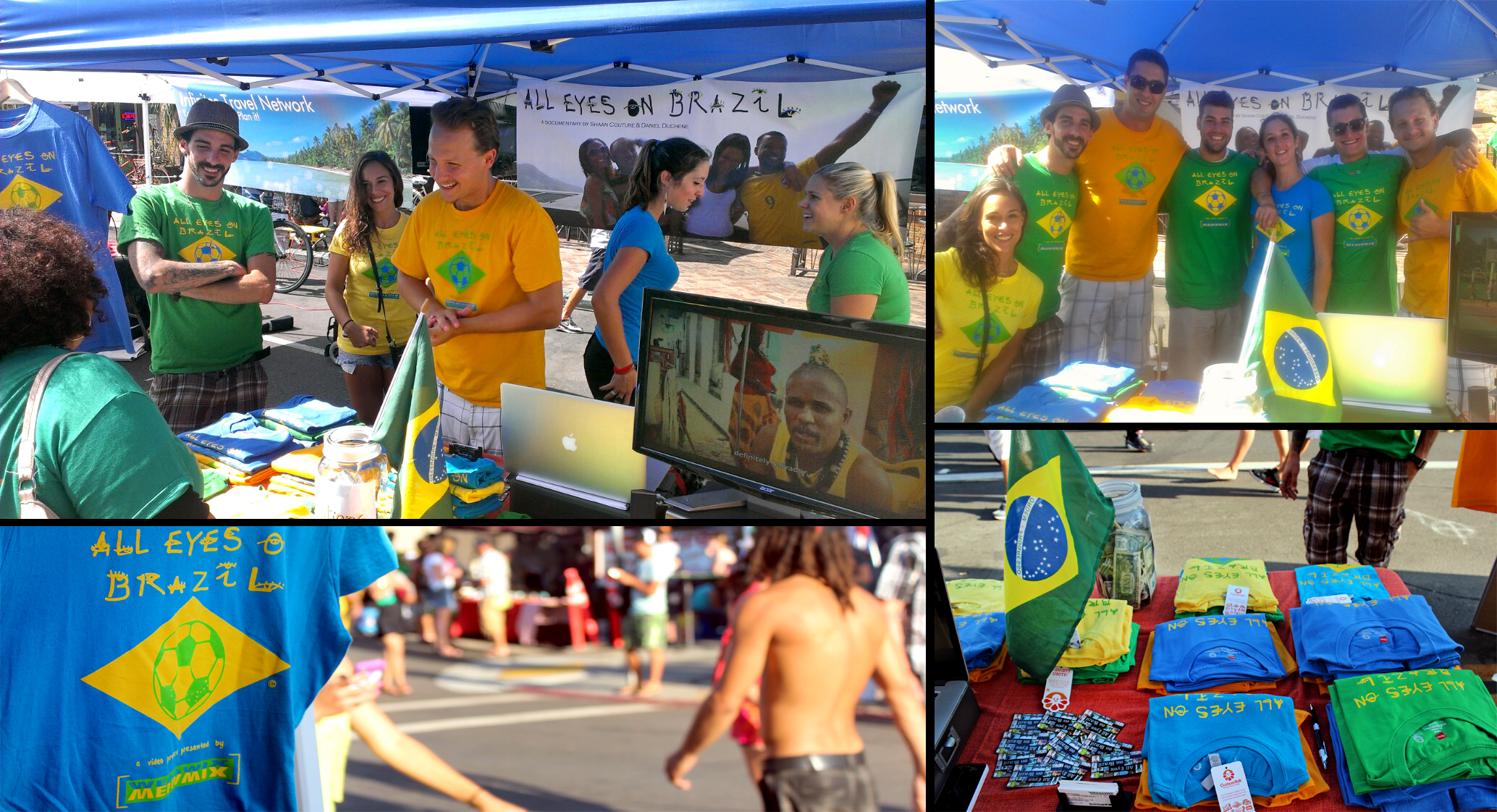 Shirt design san diego - The All Eyes On Brazil Team During The 2013 San Diego Brazilian Day T Shirt