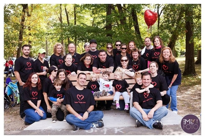 Team Teagan Doria At The Congenital Heart Defect Walk T-Shirt Photo