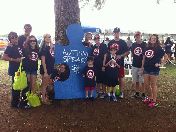 Brett's Hero Squad At The 2013 Autism Speaks Walkathon T-Shirt Photo