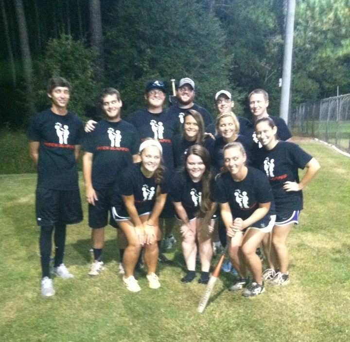 Pitch Slapped  Intramural Softball Team T-Shirt Photo