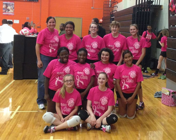Dig For A Cure   Oakland Mills Freshmen Volleyball T-Shirt Photo