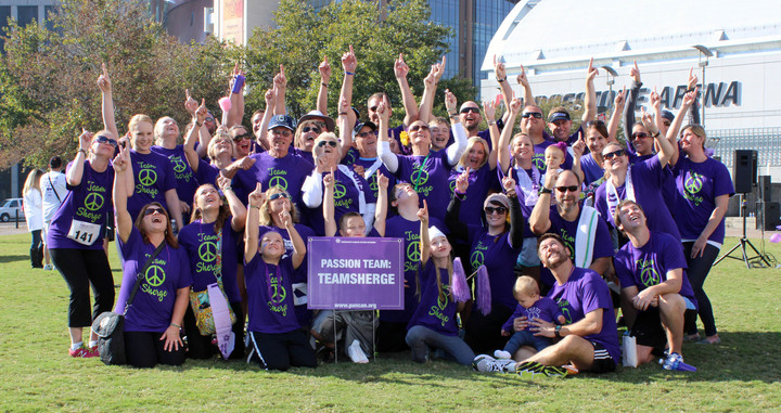 Team Sherge Purplestride 2013 T-Shirt Photo