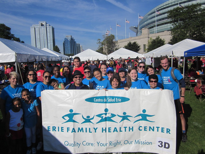 Erie Family Health Center At The Chicago Aids Run/Walk 2013 T-Shirt Photo