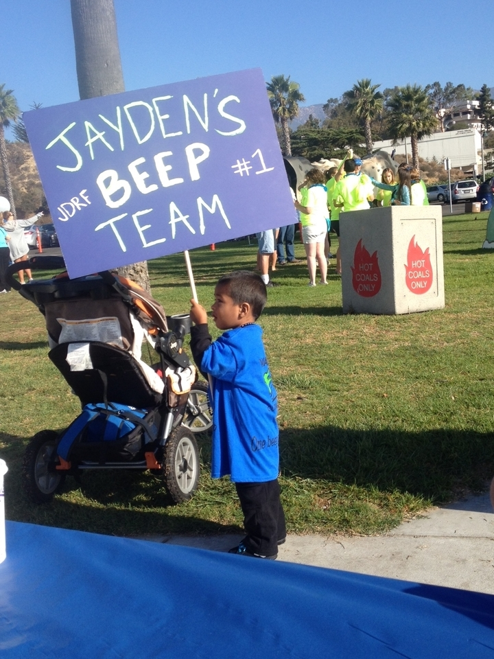 Jayden On Strike For Diabetes T-Shirt Photo