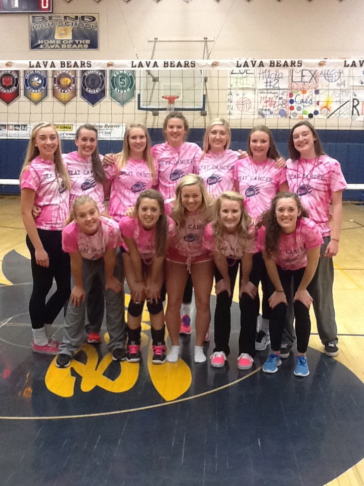 Bend Volleyball Supports Breast Cancer T-Shirt Photo