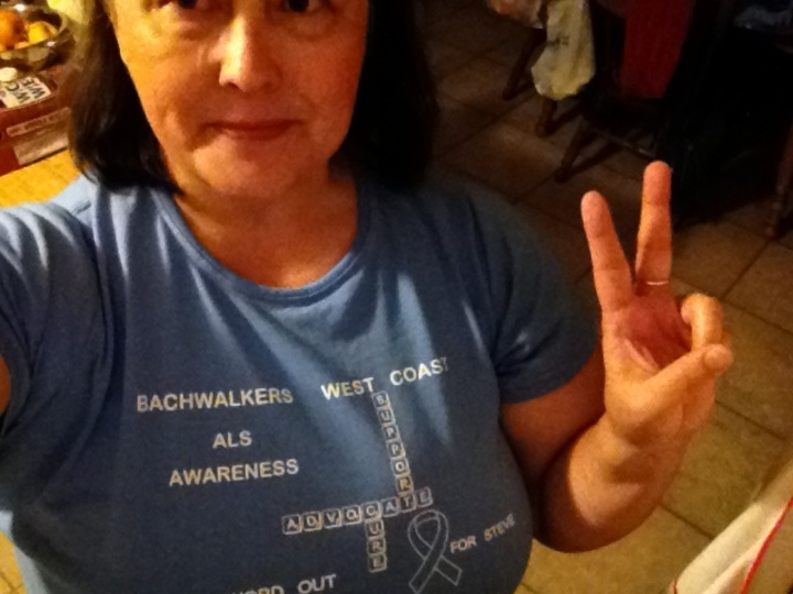 Sometimes I Rock, But Today I Walk For Als. T-Shirt Photo