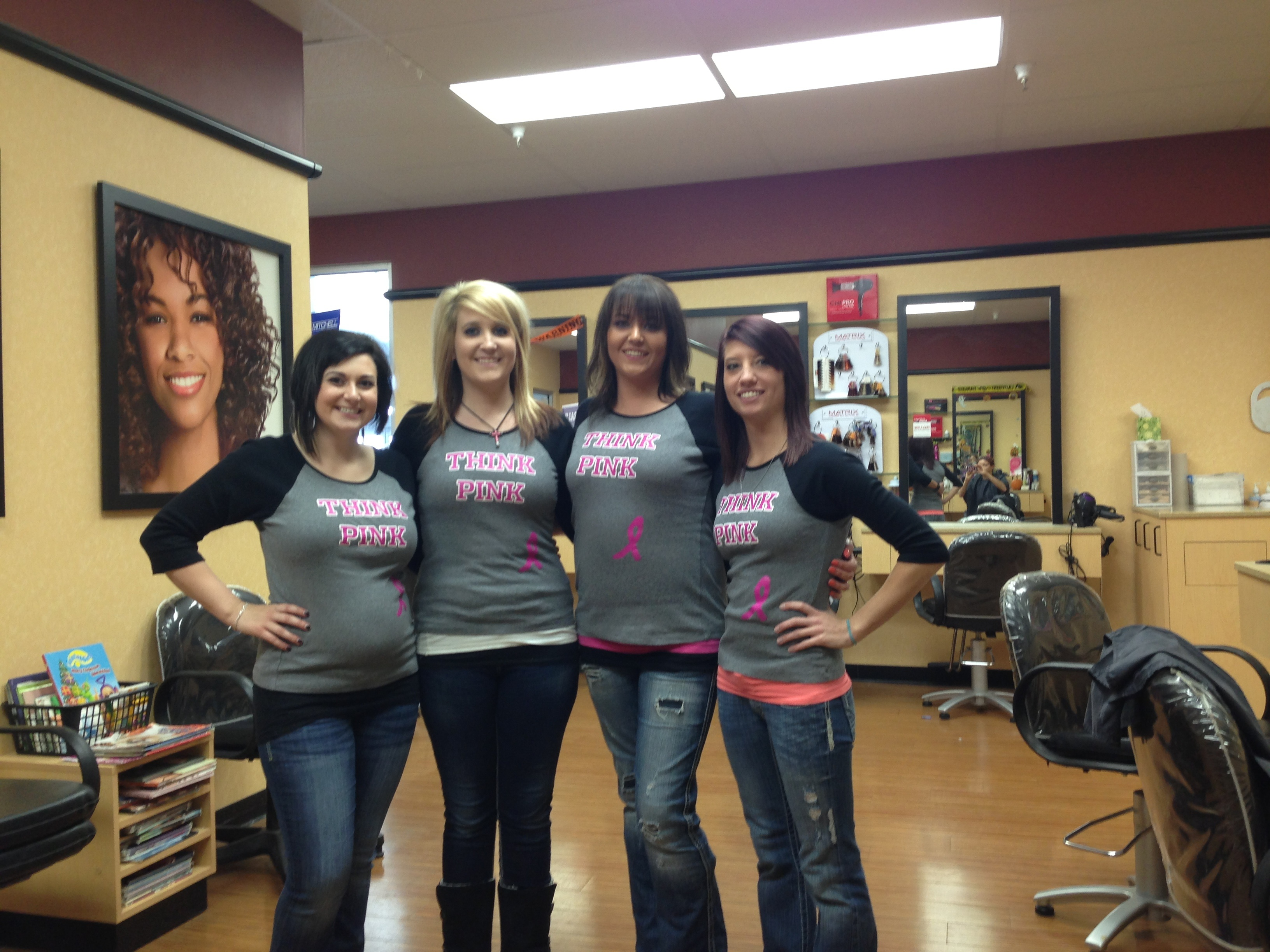 Custom t shirts for clip for the cure shirt design ideas for Beauty salon t shirts
