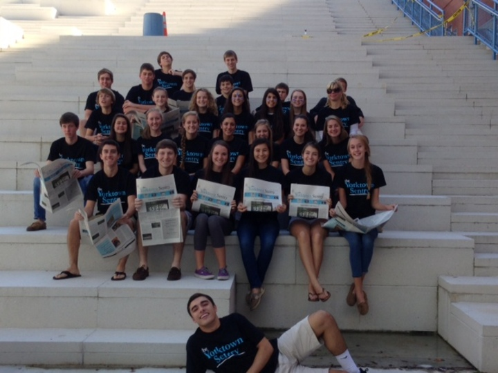 Yorktown Sentry Staff Delivers! T-Shirt Photo