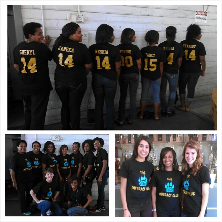 """Ths Interact Club Is """"Turnt Up"""" For Custom Ink T-Shirt Photo"""