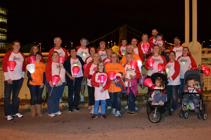 "2013 Light The Night Walk: ""Pirates Of The Cur Eibbean"" T-Shirt Photo"