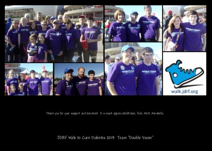 Jdrf Walk To Cure Diabetes 2013 T-Shirt Photo