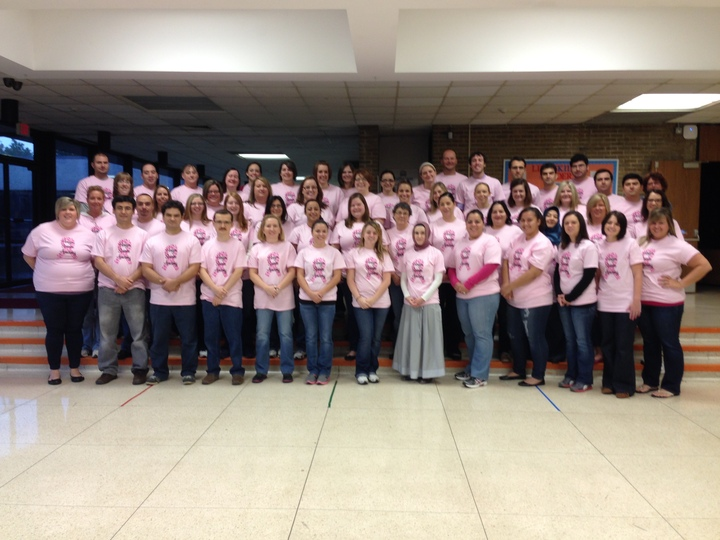 Breast Cancer Awareness  Teachers Unite! T-Shirt Photo