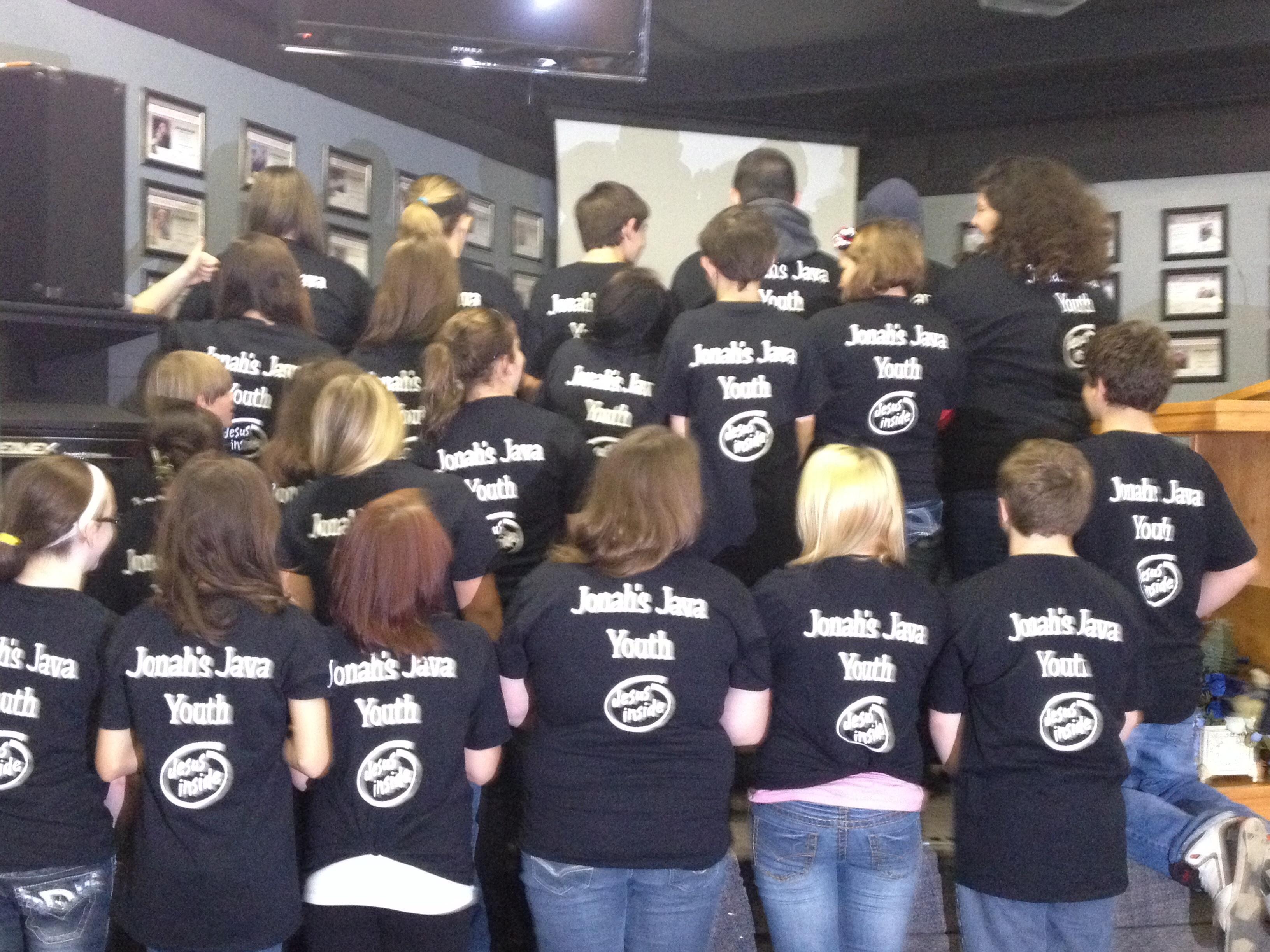 T shirt design youth - Jonah S Java Youth Group T Shirt Photo
