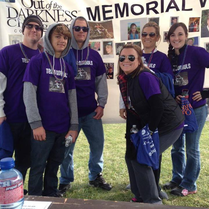 The Phillips Family At The Afsp Out Of The Darkness Walk T-Shirt Photo