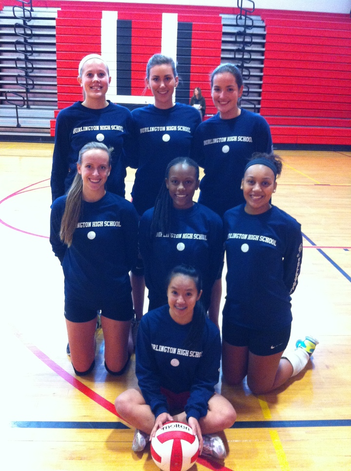 Burlington High School Volleyball Divas! T-Shirt Photo
