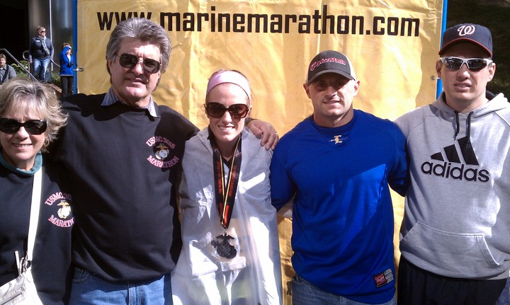 Team Alyson At The Marine Corp Marathon T-Shirt Photo