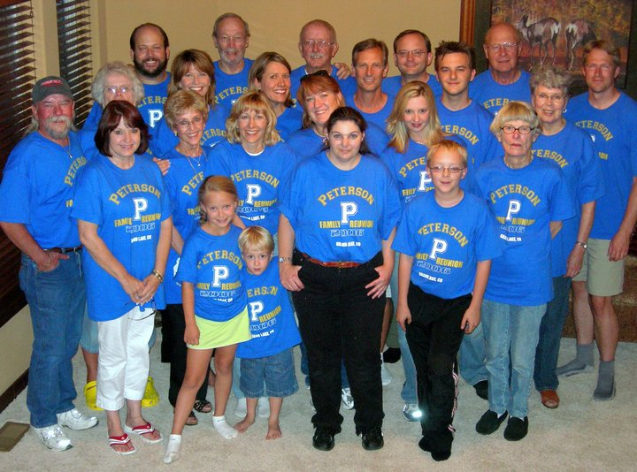 First  Ever Peterson Family Reunion T-Shirt Photo