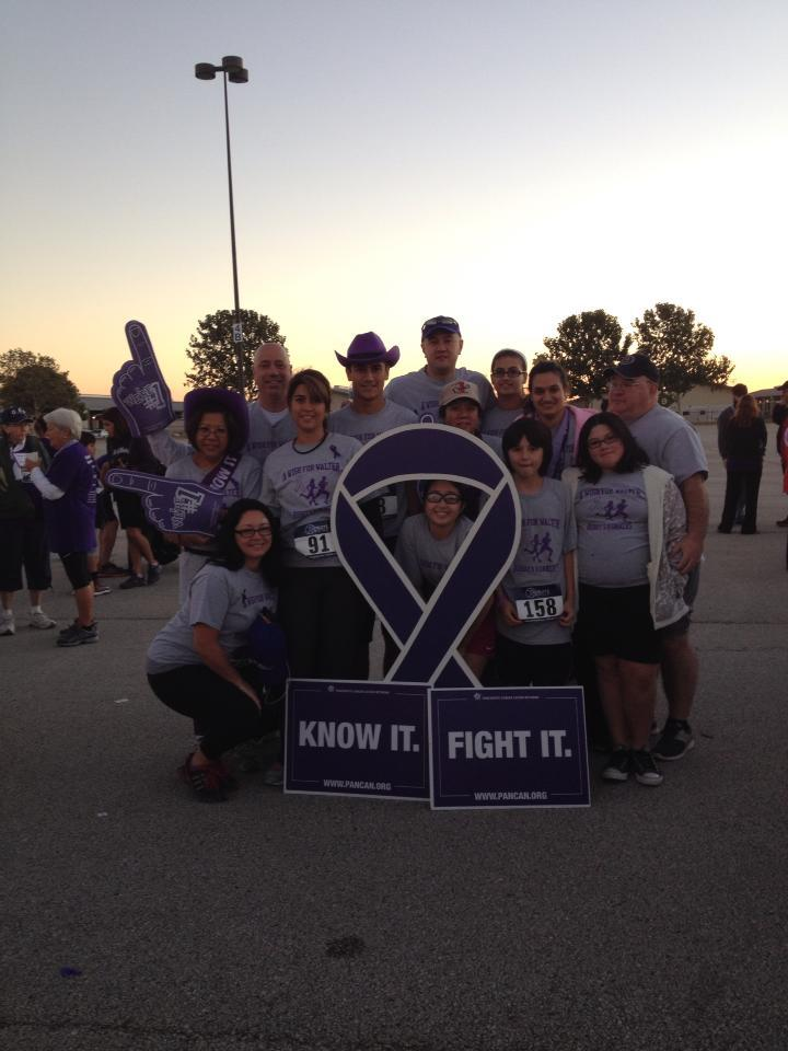 San Antonio Purple Stride Ribbon T-Shirt Photo