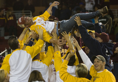 Asu Road Trip Members Celebrate 41 3 Victory At Stanford T-Shirt Photo