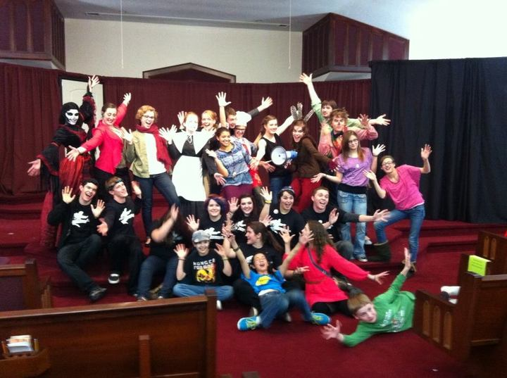 The Cast And Backstage Ninj As! T-Shirt Photo