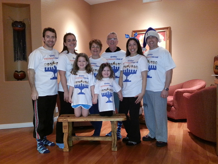 The Lazy P Thanksgivukkah Celebration T-Shirt Photo