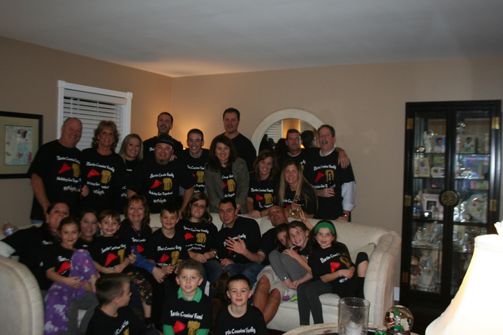 Martin Cousins Holiday Family Get Together T-Shirt Photo