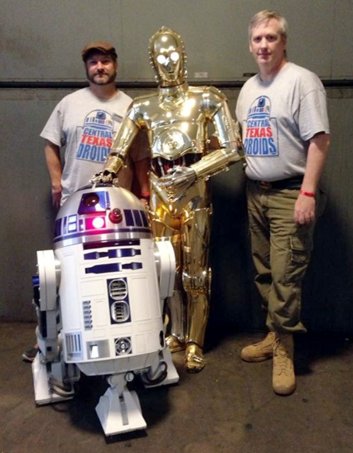 Central Texas Droids With R2 D2 And C 3 P0 T-Shirt Photo