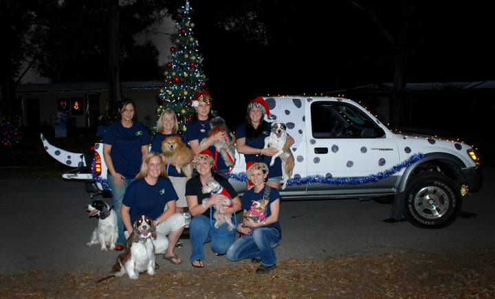 Keystone Heights Animal Hospital Christmas Parade 2013 T-Shirt Photo