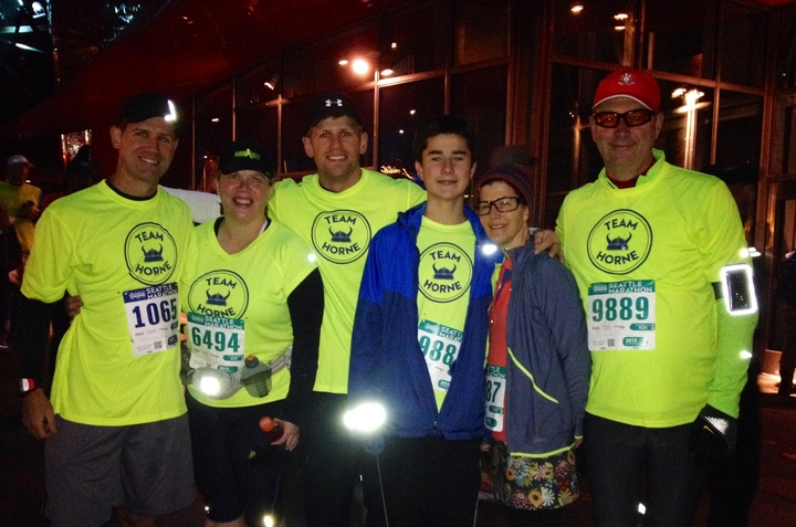 Family Reunion / Seattle Half Marathon T-Shirt Photo