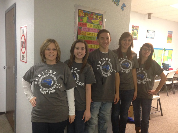 4seniors And The Teacher  T-Shirt Photo