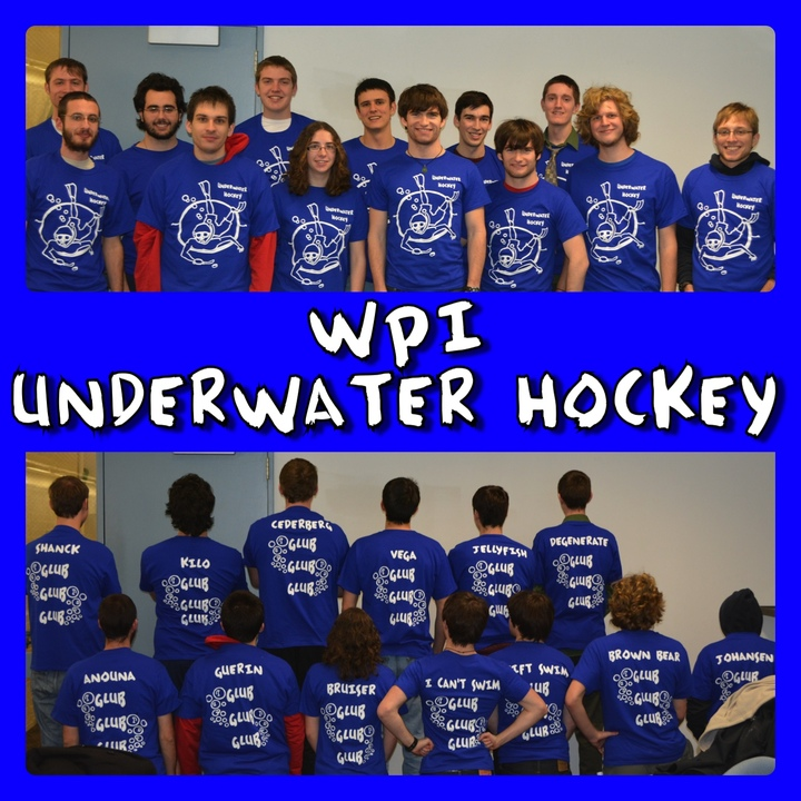 Wpi Underwater Hockey Team T-Shirt Photo