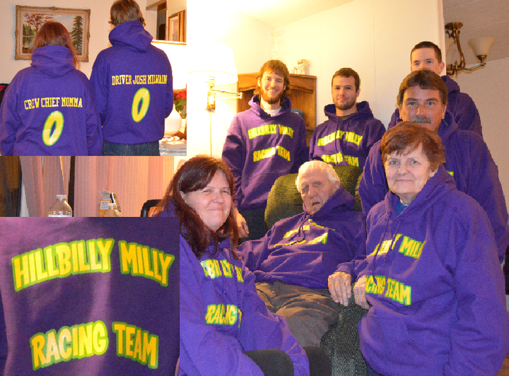 The Hillbilly Milly Racing Team Crew T-Shirt Photo