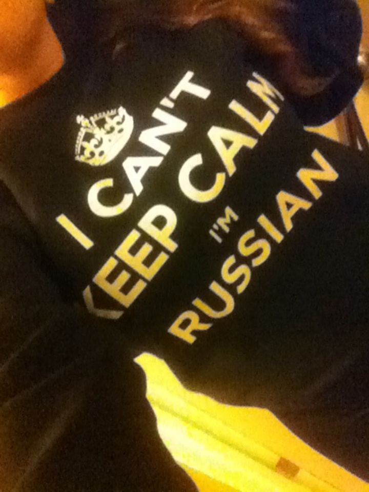 I Can't Keep Calm I'm Russian T-Shirt Photo