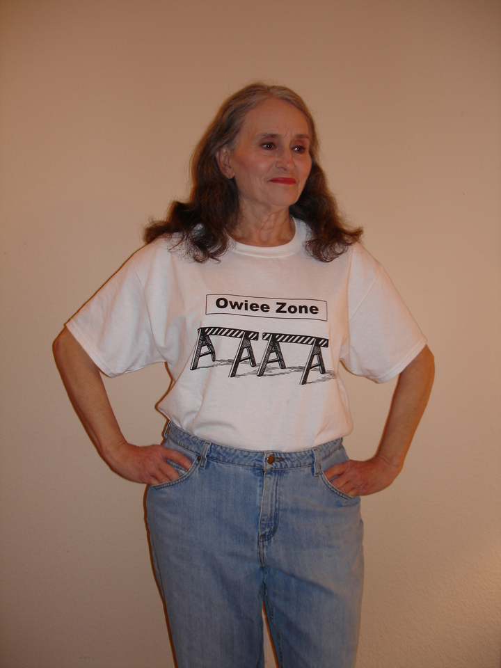 Sharon.  Six Months After Double Mastectomy...Three Weeks After Implant Surgery T-Shirt Photo