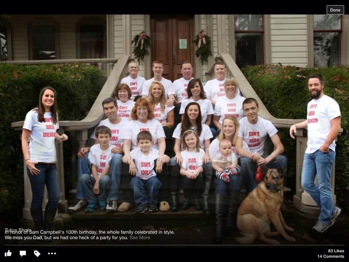Sam's 100th T-Shirt Photo