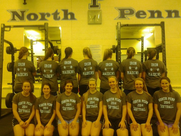 North Penn Softball Team  Weight  Lifting Workout T-Shirt Photo