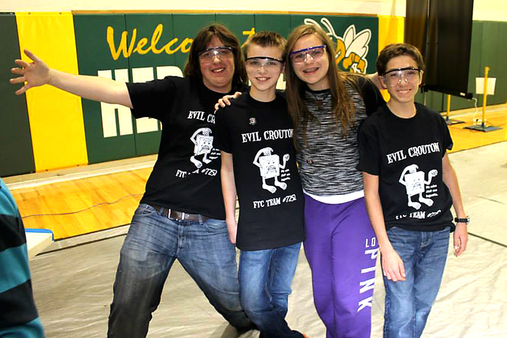 First Ftc Team 7252 At First Ftc Competition Sterling Heights, Mi T-Shirt Photo
