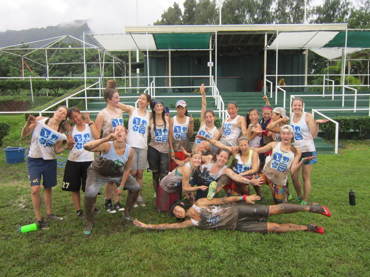 Team Sophisticated Side Ponytail At An Ultimate Frisbee Tournament In Oahu T-Shirt Photo