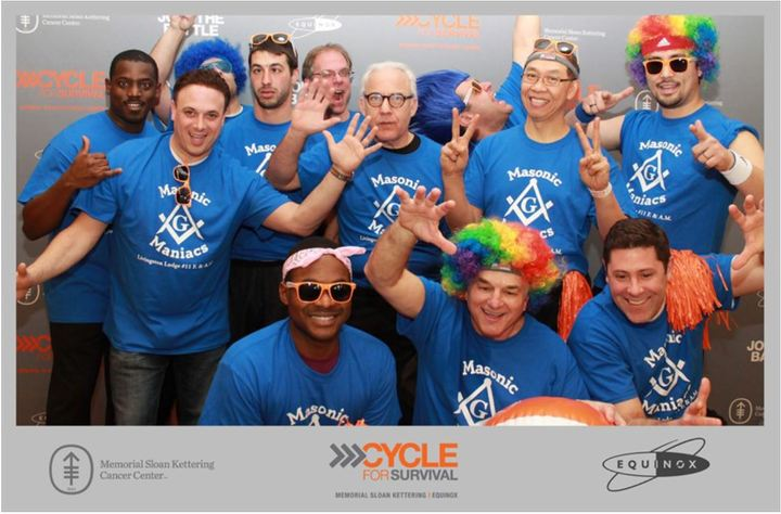 Masonic Manics At The Cycle For Survivor Cancer Fundraiser T-Shirt Photo