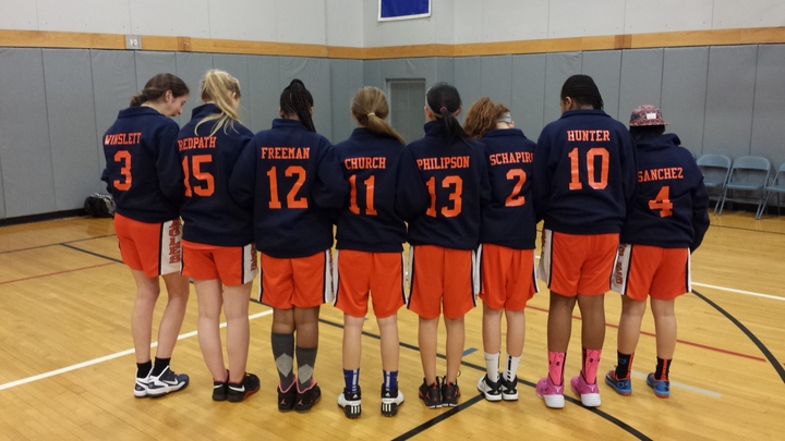 Fieldston Girls Basketball Reverse T-Shirt Photo