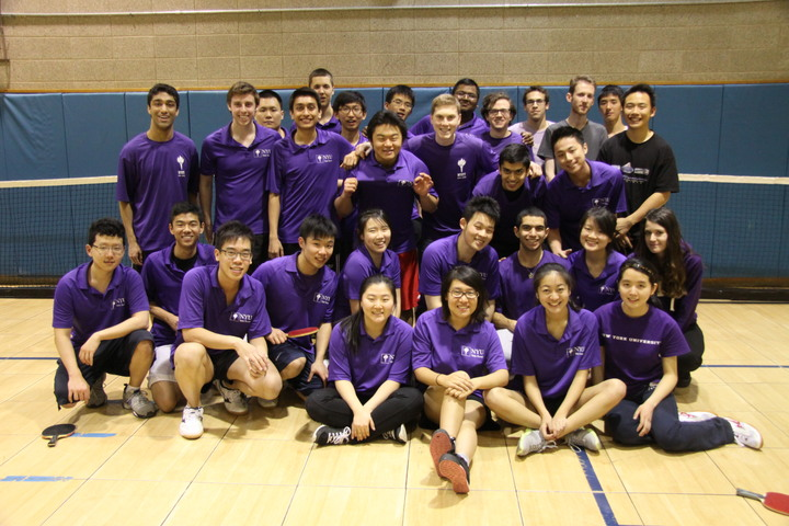 Nyu Table Tennis Team T-Shirt Photo