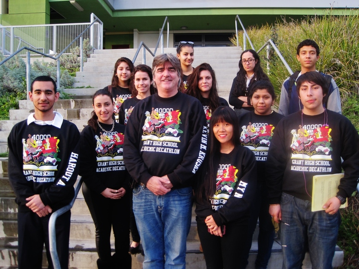 Grant High School Academic Decathlon Team 2013 2014 T-Shirt Photo