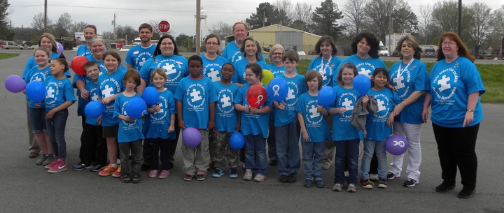 "Clarendon Celebrates World Autism Awareness Day By ""Lighting It Up Blue"" In Custom Ink Shirts T-Shirt Photo"