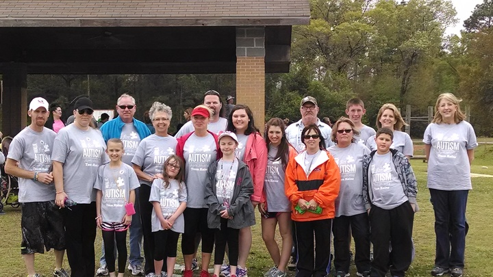 Autism Awareness Walk 2014 Team Raine T-Shirt Photo