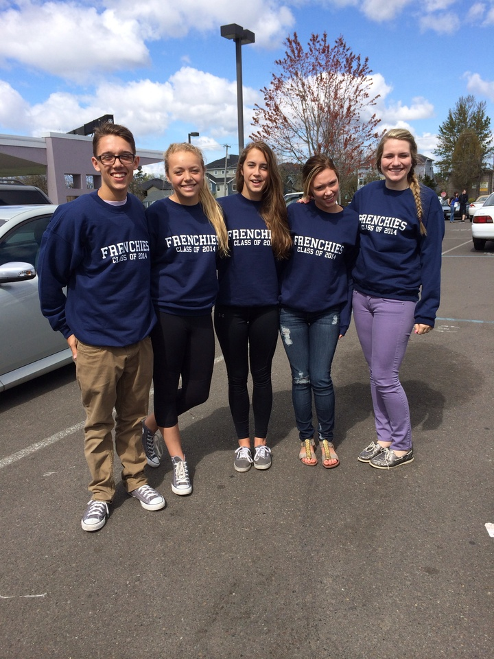 Frenchies Graduate In Style  T-Shirt Photo
