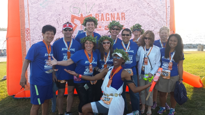 Athenians At The 2014 So Cal Ragnar T-Shirt Photo