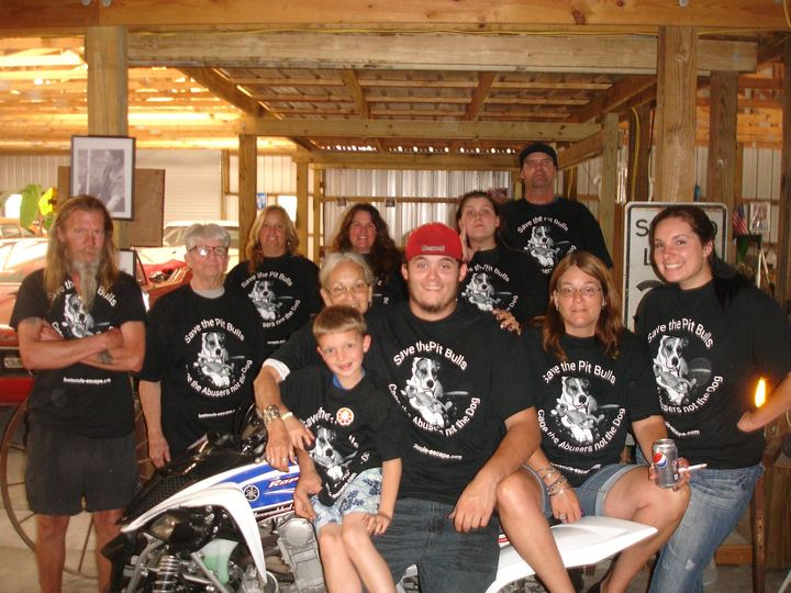 Four Generations Of One Family Showing Support For Pit Bulls T-Shirt Photo