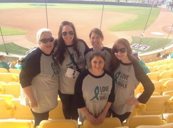 Ovarian Cancer Walk T-Shirt Photo