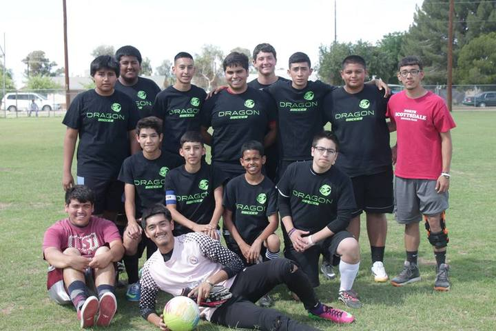 Dragon Soccer Boys T-Shirt Photo